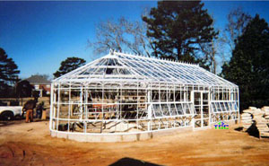 Nacogdoches, TX - American Classic 17' x 40' w/custom rounded endwalls white (pre-landscape) -1