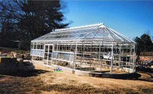 Nacogdoches, TX - American Classic 17' x 40' w/custom rounded endwalls white (pre-landscape) -2